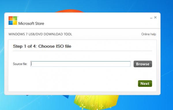 "1. Нажмите "" Browse "" и укажите путь, где у вас хранятся ISO файл Windows 7/8 и нажмите кнопку  ""NEXT ""."